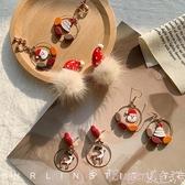 耳環過年紅色喜慶年味耳環女2020秋冬新款潮網紅氣質個性耳釘耳夾耳飾 suger