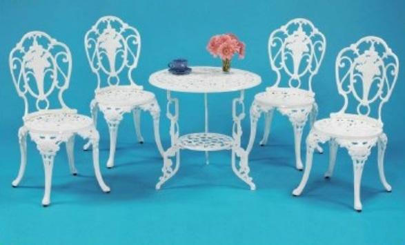 【南洋風休閒傢俱】戶外休閒桌椅系列-玫瑰玫瑰桌椅組 戶外餐桌椅組 適民宿 餐廳 (#112T #112C)