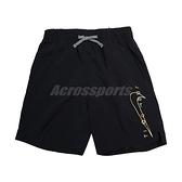 Nike 短褲 JDI Swoosh Pants 黑 黃 男款 海灘褲 膝上 鬆緊腰 運動休閒【ACS】 NESSB639-001