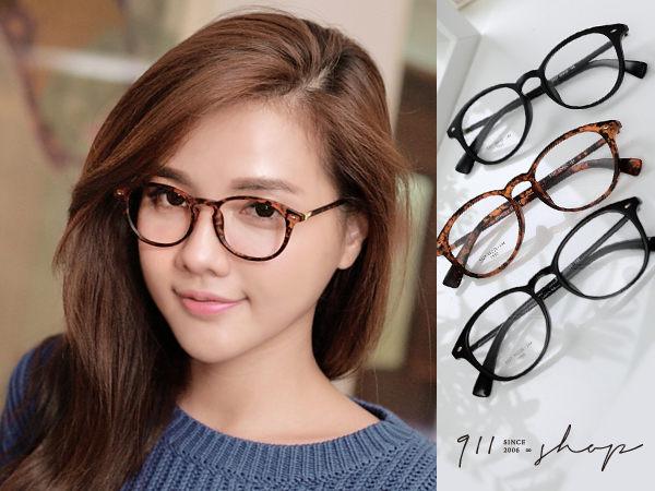 XOXO.韓風TR90塑膠鈦鉚釘橢圓框光學配鏡框眼鏡【p629】*911 SHOP*