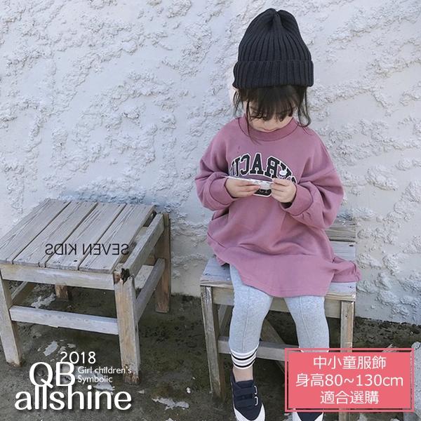 女童洋裝 英文字母寬鬆魚尾連身裙 QB allshine