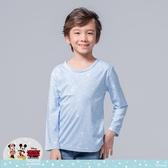 【WIWI】雪花米奇溫灸刷毛圓領發熱衣(天空藍 童100-150)