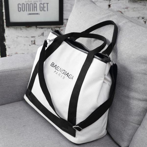 登機包-旅行包韓版短途旅游包女帆布包潮單肩包大容量斜背包手提包行李包 【korea時尚記】