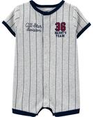 【美國Carter's】短袖純綿連身衣 - 小小棒球員 #1H511910