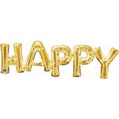 76*25cm金色字母鋁箔氣球(不含氣)-HAPPY
