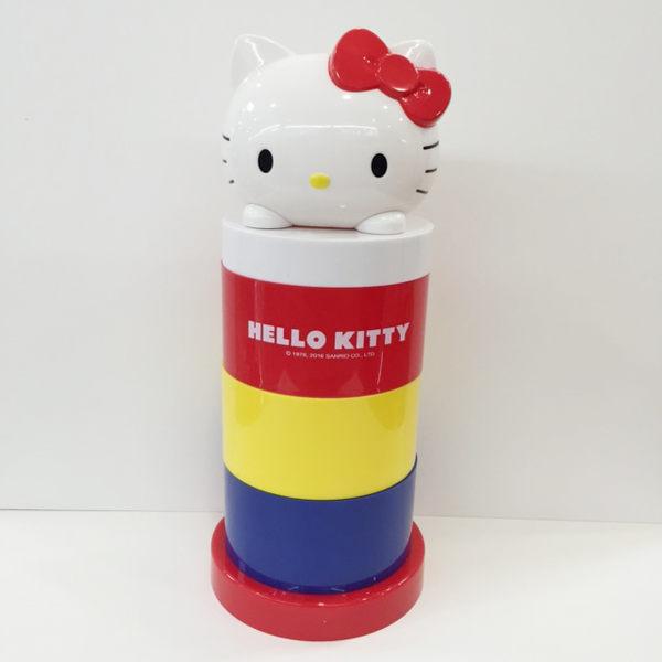 【震撼精品百貨】Hello Kitty 凱蒂貓~HELO KITTY三層旋轉收納盒
