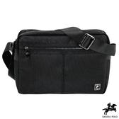 Sandia polo - 牛津布系列防潑水多夾層休閒側背包 - 黑色