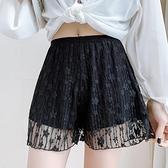 【Charm Beauty】安全褲女 防走光 白色 lolita寬鬆 蓬蓬 女 打底褲 蕾絲 內襯 可外穿 短褲