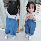 女童春秋裝牛仔吊帶褲套裝1-3歲4女寶寶嬰兒童長褲寬管褲韓版潮