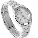 CASIO必備基本款銀色指針腕錶 不鏽鋼錶帶【NEC111】