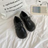 娃娃鞋 軟妹可愛小皮鞋日系圓頭女學生百搭娃娃鞋平底學院風JK鞋子製服鞋 2色35-39