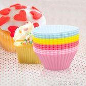 烘焙模具蛋糕模具烘焙工具迷你硅膠杯馬芬杯布丁杯12個裝  全館免運