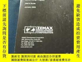二手書博民逛書店罕見ZEMAX OpticalDesignProgram User sGuide January2003Y22
