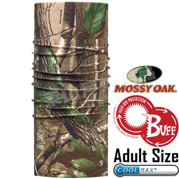 BUFF 107718 Adult High UV Pro創意魔術頭巾 Mossy Oak授權系列 Coolmax防臭抗菌圍巾 東山戶外