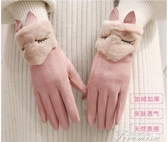 皮手套-手套女冬季加絨加厚保暖戶外騎車手套冬天韓版可愛學生觸屏 提拉米蘇