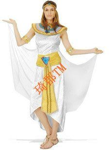 COS萬聖節服裝 古裝豔后長裙白色