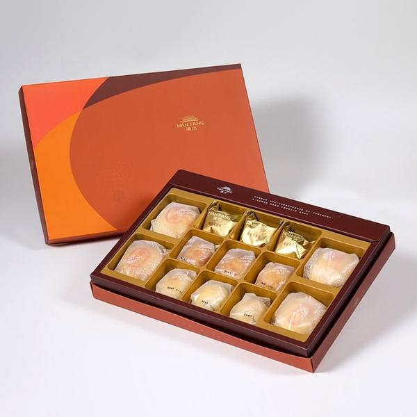 【御藏】綜合13入禮盒 綠豆椪*2+純綠豆椪*2+鳳梨酥*3+蛋黃酥*3+漢坊金沙小月*3