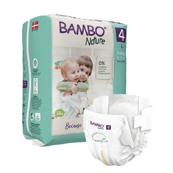 BAMBO 伴寶樂 嬰兒紙尿褲-自然風 4號 7-14kg (24片/6包/箱)【杏一】