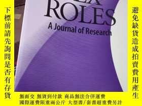 二手書博民逛書店SEX罕見ROLES A Journal of Research