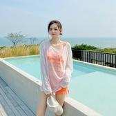 泳衣女保守分體平角長袖罩衫防曬遮肚顯瘦三件套韓國ins度假泳裝 安妮塔小鋪