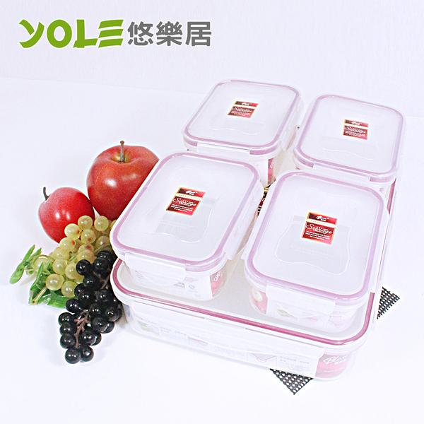 【YOLE悠樂居】Blest嚴選長形氣密保鮮盒禮盒包(320ml/2300ml)#1126027 蒸籠 蒸碗 微波耐熱