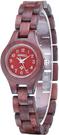 Bewell【日本代購】復古懷舊木錶 女士木製輕質手錶 日本製造石英 - 赤檀