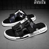 拖鞋男 潮夏季外穿新款潮流韓版個性室外時尚網紅沙灘男士涼鞋(快速出貨)