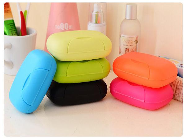 韓系 糖果色帶扣鎖便攜旅行皂盒 創意家居旅行便攜香皂盒有蓋肥皂盒 大 【SV6125】BO雜貨