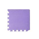 【新生活家】柔彩地墊附邊條40入(紫)