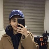 鴨舌帽純色日系棒球帽百搭簡約防曬氣質帽子【橘社小鎮】