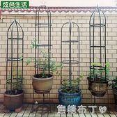 園藝藤本植物攀爬花架陽台盆栽支架鐵藝室內月季鐵線蓮爬藤架戶外 WD一米陽光