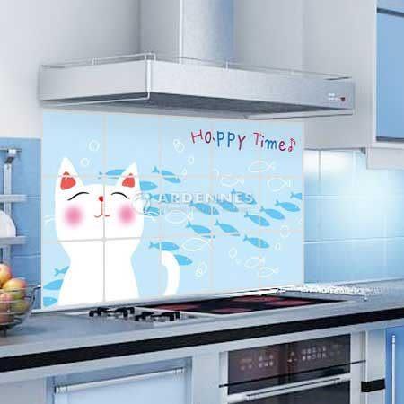 【ARDENNES】藝術防油貼/牆貼/居家佈置 可愛貓咪KS001