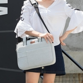 筆電包 氣囊防震筆記本電腦包15.6寸14寸適用聯想華碩戴爾男女單肩手提包   汪喵百貨