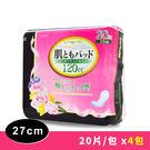 日本一番 婦女失禁護墊27cm 中量型(120cc)-20片x4包組