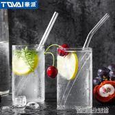 買一送一 華派玻璃吸管 彩色耐高溫 喝湯喝粥果汁飲料彎吸管健康