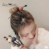 髮簪隨心用日系和風圓球發簪簡約現代丸子頭盤發器甜美少女森系頭飾髮簪 春季特賣