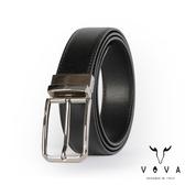 【VOVA】紳士方頭穿針式可旋轉蛇紋皮帶(銀色) VA003-002-NK
