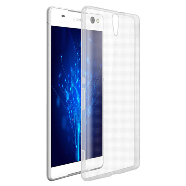 Sony Xperia C5 晶亮透明 TPU 高質感軟式手機殼/保護套 光學紋理設計防指紋