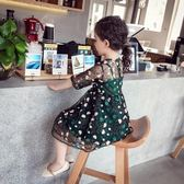 女童連衣裙 春夏2018新款兒童蕾絲裙 小女孩公主裙 時髦洋氣裙子 免運直出 交換禮物