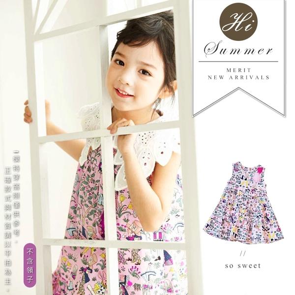 愛麗絲夢想世界洋裝 春夏童裝 女童洋裝 女童長版 女童連身裙 女童傘裙