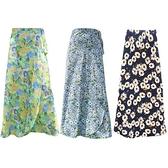 雪紡一片式沙灘裙/遮陽裙(1件入) 款式可選 防風裙/防曬裙/一片裙【小三美日】