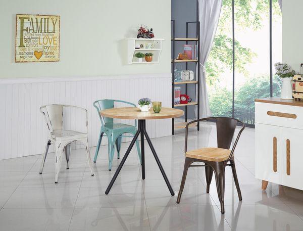 【森可家居】工業風綠色扶手做舊鐵椅7JX249-11 美式復古 餐椅 椅子