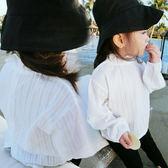 花邊立領薄長袖襯衫  橘魔法 Baby magic 現貨 兒童 童裝 女童 襯衫