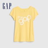 Gap女童徽標LOGO圓領短袖T恤577842-活力明黃色