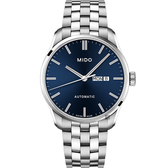 MIDO美度 Belluna Gent 經典日期機械錶-藍/42mm M0246301104100
