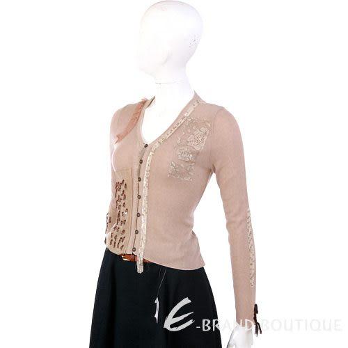 Lorella Braglia 粉耦色亮片飾小外套 0510673-05
