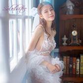 情趣制服 小胸新娘婚紗公主激情套裝騷露乳sm透視裝女性感制服誘惑【週年慶八折】