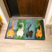 貓咪地墊廚房臥室衛浴浴室吸水防滑墊 門口進門入戶門墊門廳腳墊