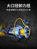 漁輪 魚輪全金屬支架漁輪紡車輪漁線輪海竿輪磯釣魚線輪遠投輪 伊鞋本鋪