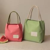 便當包新款可愛便當包飯盒袋手提拎包午餐包帆布環保袋小飯盒包防水牛津